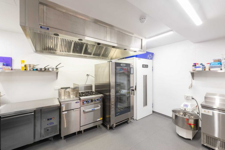 View of storage and cooking area in Lobster